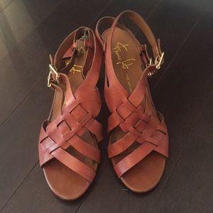 FREE W PURCHASE: Franco Sarto Strappy Brown Heels
